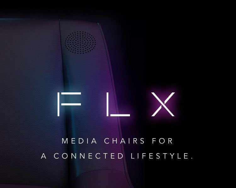 INTRODUCING FLX MEDIA椅子连接的生活方式。